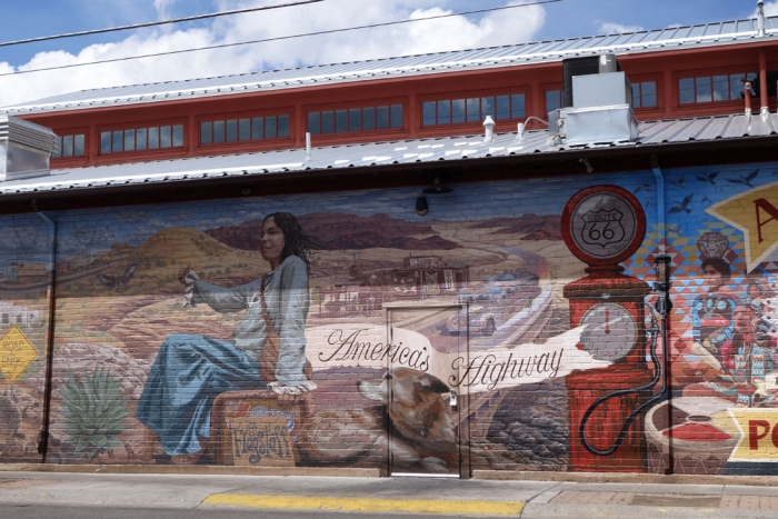 A Route 66 mural in Flagstaff
