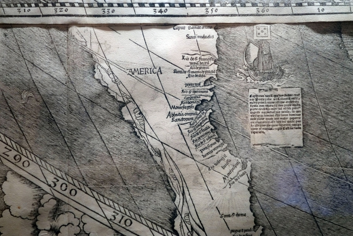 The map that is the earliest record of the name America