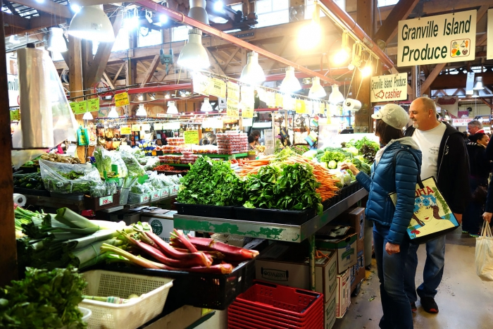 Inside the Granville Island Market