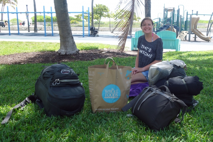 (After all the fun relaxing we got to lug all our gear two miles in the heat we'd previously been enjoying - fun times!)