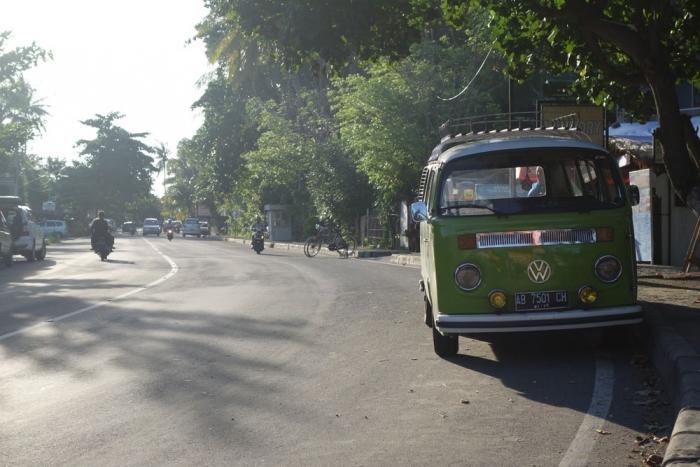 Walking back to the hotel in Senggigi