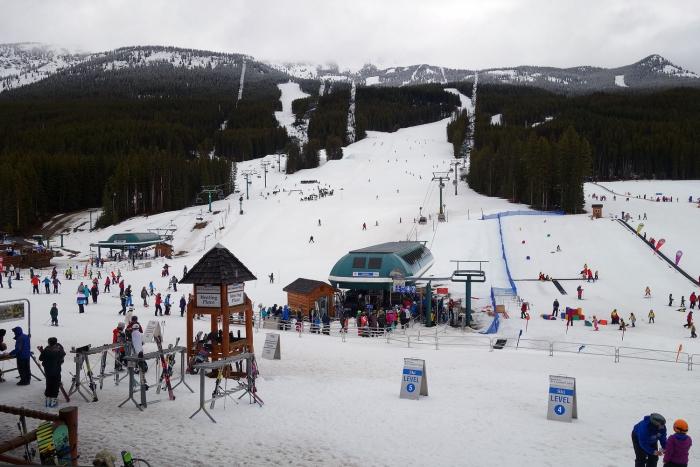 People skiing at Lake Louise
