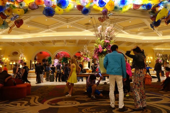 The colourful Bellagio Lobby