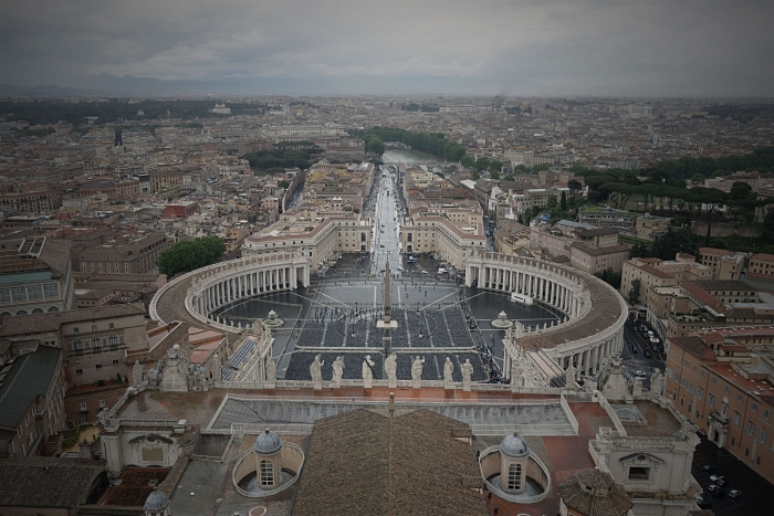 The view from St Peter's Basilica Dome